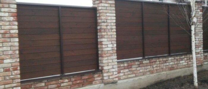 Деревянный забор из термососны